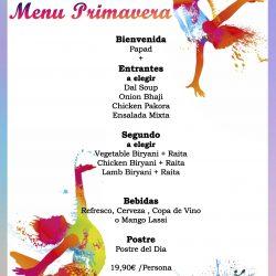Restaurante Hindu en Barcelona-Menu primavera